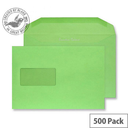 Creative Colour Lime Green Window C5+ Wallet Envelopes (Pack of 500)