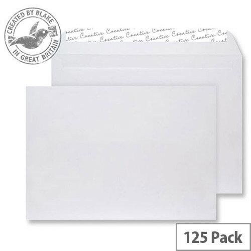 Creative Senses White Velvet Wallet C4 Envelopes (Pack of 125)