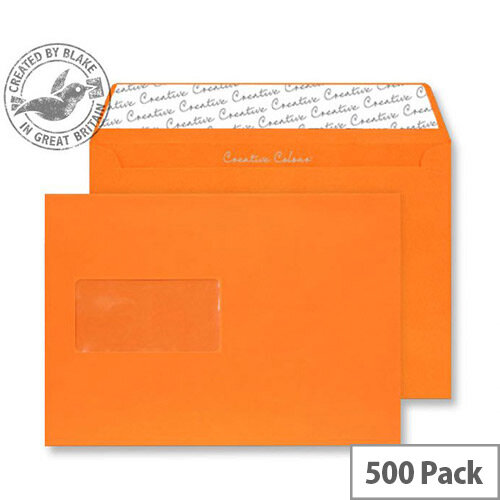 Creative Colour Pumpkin Orange Wallet Window C5 Envelopes (Pack of 500)