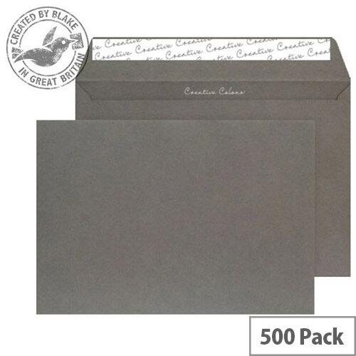 Creative Colour Graphite Grey C5 Wallet Envelopes (Pack 500)