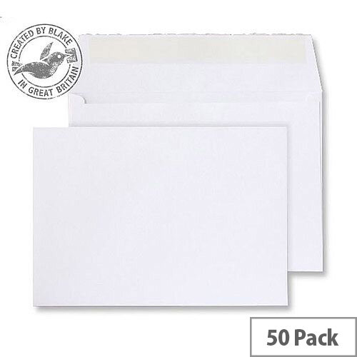 Creative Senses Wallet P& Beautifully White 180gsm C5 162x229mm (Pack of 50)