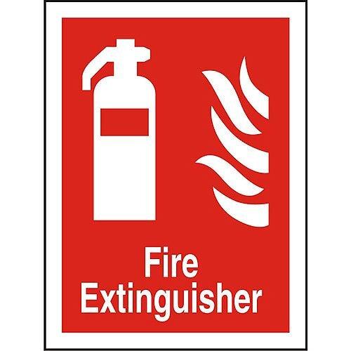 Photolum Fire Fighting Sign 200x300 Extinguisher Self Adhesive Vinyl