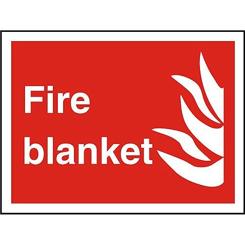 Photolu Fire Fighting Sign 200x300 1mm Plastic Fire Blanket