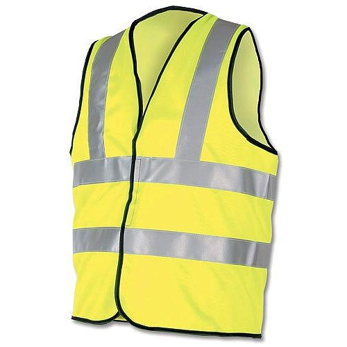 Proforce High Visibility Vest 2-Band Waistcoat Yellow Medium HV08YL400