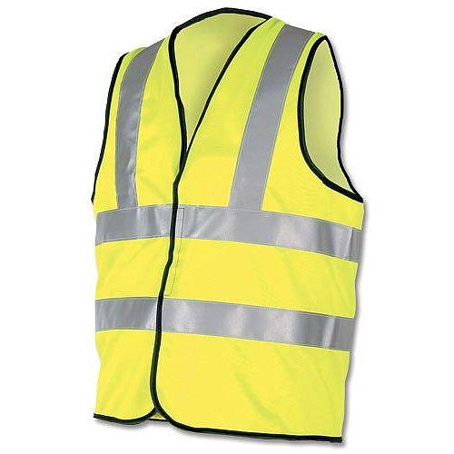 Proforce High Visibility Vest 2-Band Waistcoat Yellow Extra Large HV08YL480