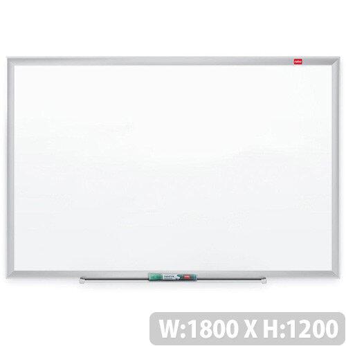 Nobo Nano Clean Steel Whiteboard Magnetic Exclusive Nano Clean Surface W1800xH1200mm White Ref 1905171