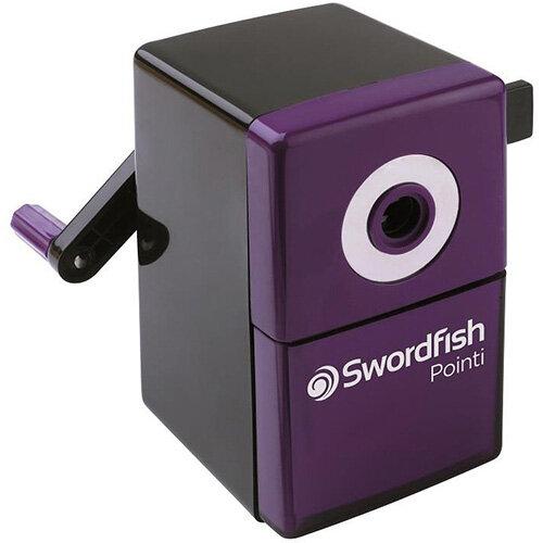 Swordfish Pointi Mechanical Pencil Sharpener Auto-stop 8mm dia. Desk Clamp Black/Purple Ref 40235