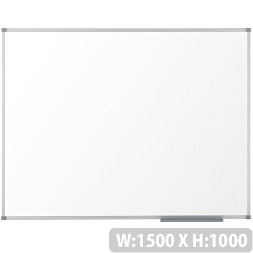 Nobo Prestige Enamel Whiteboard Magnetic Fixings Included W1500xH1000mm White Ref 1905222