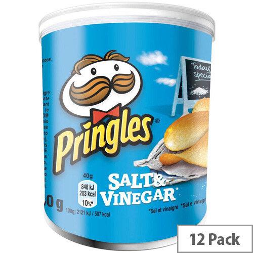 Pringles Popngo Salt and Vinegar Unique Shape Well-seasoned Non Greasy Crisps Pack of 12