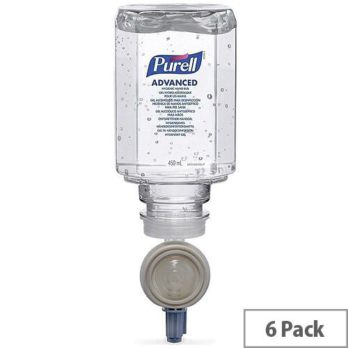 Purell 450ml ES Everywhere System Hand Rub Refill Bactericidal Fragrance-Free Pack of 6]