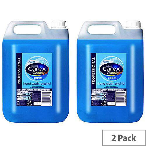 Carex Handwash Professional Original Liquid Hand Soap Refills 5L (Pack 2) Ref 88769