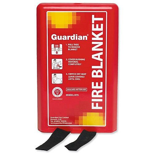 IVG Fire Blanket 1m x1m (3.3x3.3ft) Woven Fibreglass Guardian Pack of 1
