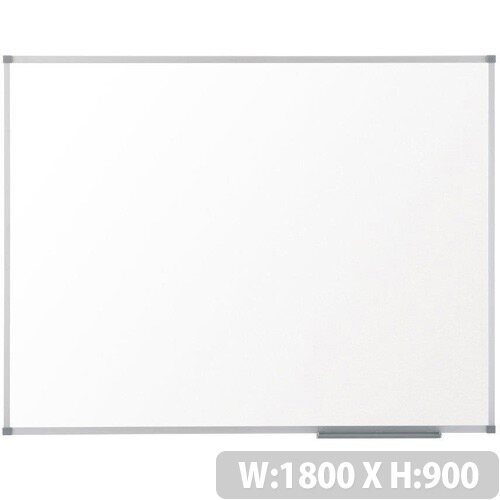 Nobo Prestige Enamel 1800x900mm Magnetic Whiteboard with Aluminium Trim and Fixings Included