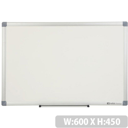 Nobo Prestige Enamel 600x450mm Magnetic Eco Whiteboard with Aluminium Trim and Fixings Included