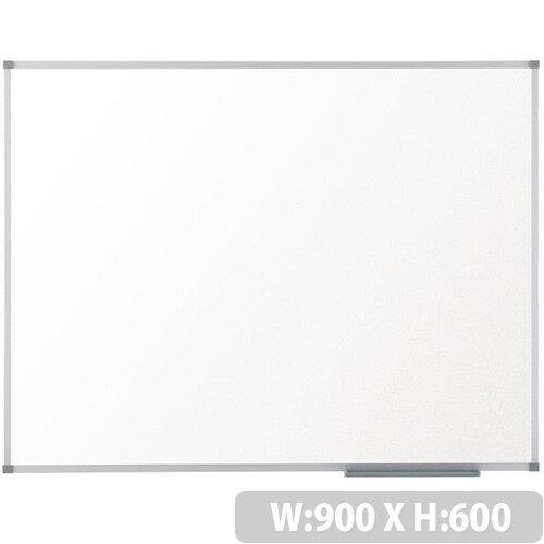 Nobo Prestige Enamel Whiteboard Magnetic Fixings Included W900xH600mm White Ref 1905220