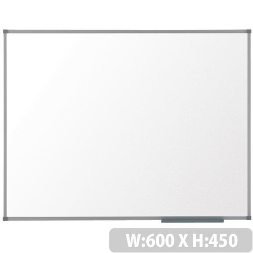 Nobo Basic Steel 600x450mm Magnetic Whiteboard with Basic Trim and Fixings Included
