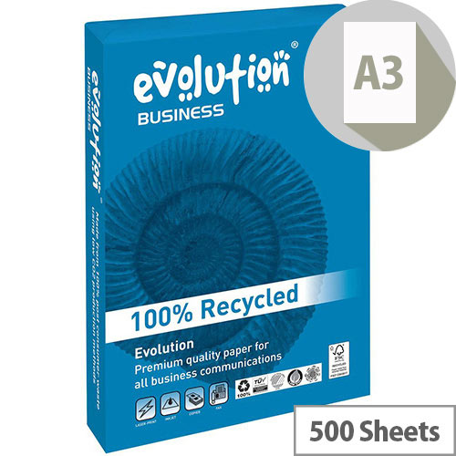 Business Evolution Recycled Paper 90gsm A3 White Ref EVBU4290 [500 Sheets]