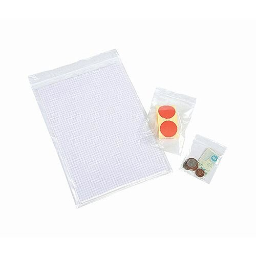 Polythene Bags Gripseal 250x350mm Standard Duty 45 Micron Clear (Pack of 1000)