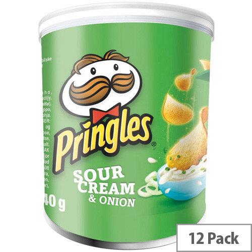 Pringles Popngo Sour Cream and Onion Unique Shape Well-seasoned Non Greasy Crisps Pack of 12