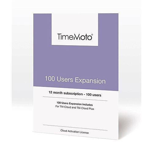 Safescan TimeMoto User Expansion 100 Users for Cloud / Cloud Plus Time Attendance Software
