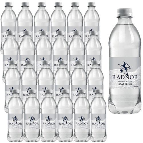 Radnor Sparkling Mineral Water Drink Bottles 500ml Pack of 24