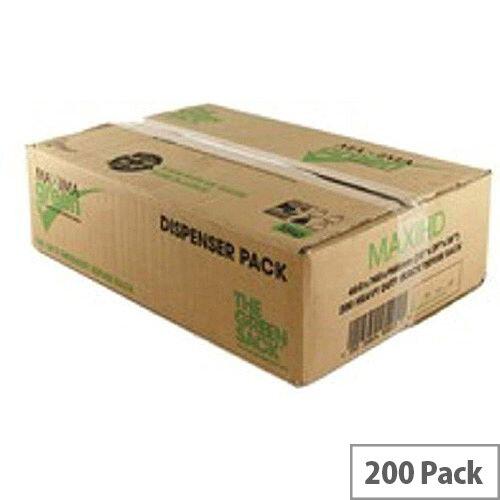 The Green Sack Refuse Sacks Medium Duty 10kg Capacity Black Pack of 200