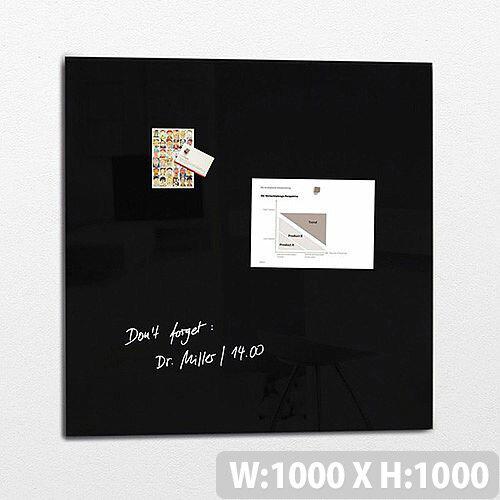 Sigel Magnetic Glass Board Artverum 1000x1000x15mm Black GL200