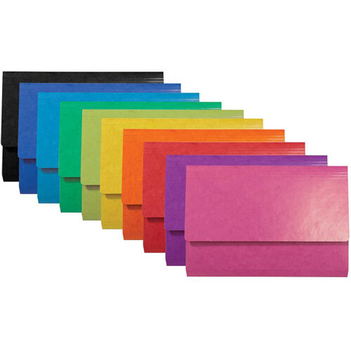 Iderama Document A4 Wallets Assorted Foolscap Pack of 25