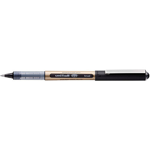 Uni-ball UB-150-10 Eye Broad Rollerball Pen 1.0mm Tip Black Ref 246959000 Pack of 12