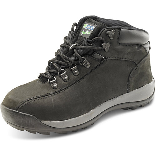 Click Traders SBP Chukka Safety Boots EVA/Rubber/Leather Size 8 Black - Steel Toe Cap, Slip Resistant Ref CTF32BL08