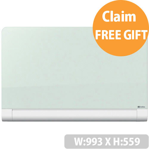 Nobo Diamond 993x559mm Glass Magnetic Whiteboard with Rounded Corners and Fixings Included