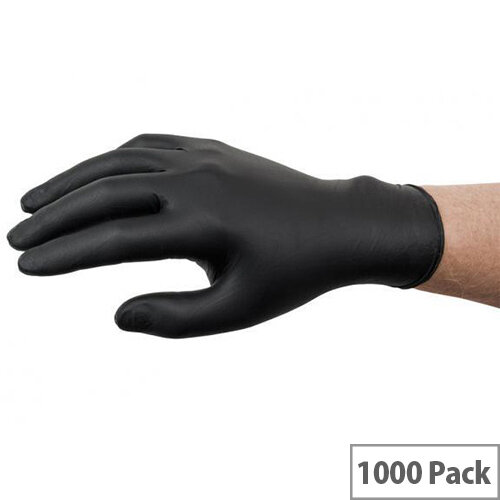 Ansell Microflex 93-852 Size 8 M Nitrile Single Use Protective Gloves Black Pack of 1000 Ref AN93-852M