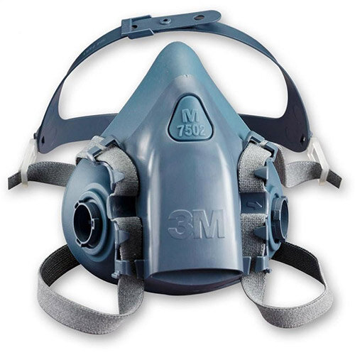 3M 7500 Series 7502 Reusable Half Face Mask Medium Grey/Blue