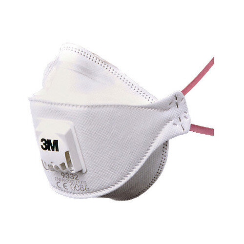 3M Aura 9332+ Flat-fold Valved Particulate Respirators FFP3 Classification White Pack of 10 Ref 9332PLUS