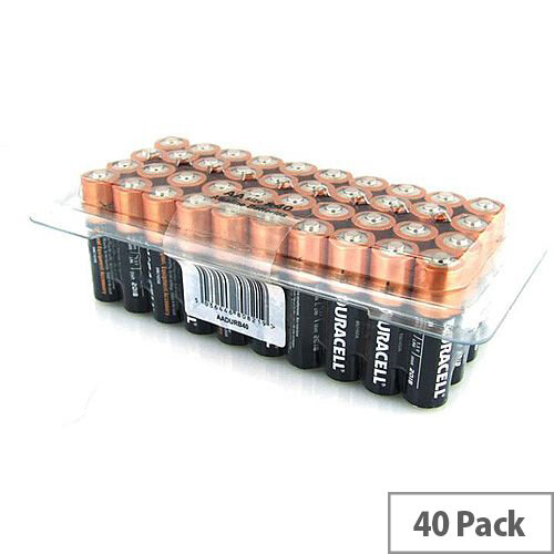 Duracell AA Alkaline Batteries Pack of 40