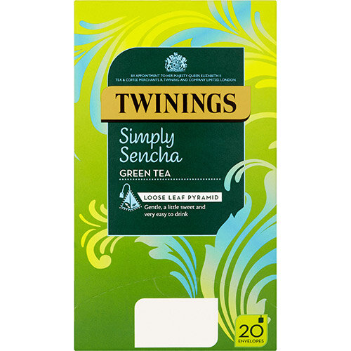 Twinings Tea Bags Individually-wrapped Simply Sencha Ref 0403365 Pack of 20