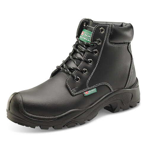 Click Footwear 6 Eyelet Pu Safety Boots S3 PU/Rubber/Leather Size 10.5 (45) Black Ref CF60BL10.5