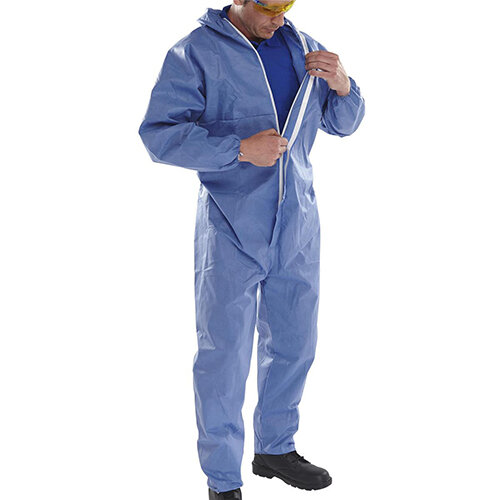 Click Once Disposable Boilersuit Work Overall Type 5/6 Size S Navy Blue Pack of 20 Ref COC10NS