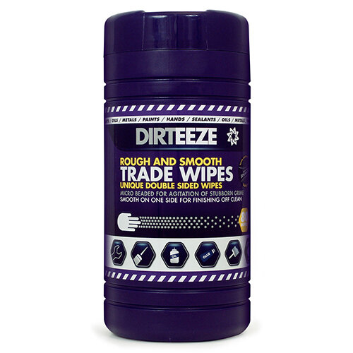 Dirteeze Rough &Smooth Wipes Dispenser Tub 220x200mm Ref DZRS80 [80 Wipes]