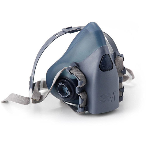 3M 7500 Series 7503 Reusable Half Face Mask Large Grey/Blue