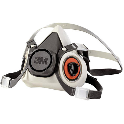 3M 6000 Series Half Face Mask Respirator Small Light Grey