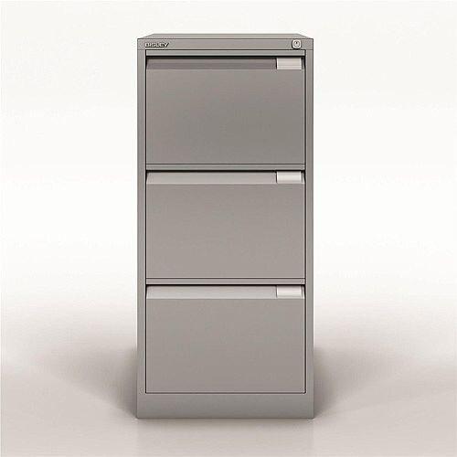 Bisley Premium Filing Cabinet Three Drawer BS3E Silver