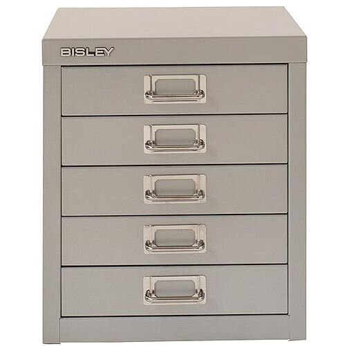Bisley SoHo Multidrawers 5-Drawer 51mm Drawer Height Goose Grey