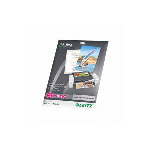 Leitz iLAM UDT A4 Hot Laminating Pouches 125 microns 1 x Pack of 25 Ref 74820000