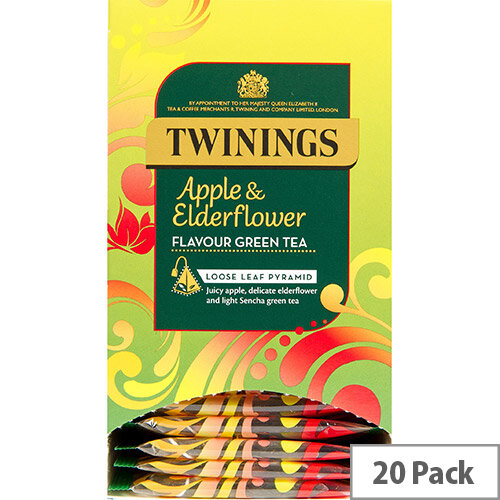 Twinings Tea Bags Individually-wrapped Apple &Elderflower Ref 0403367 Pack of 20