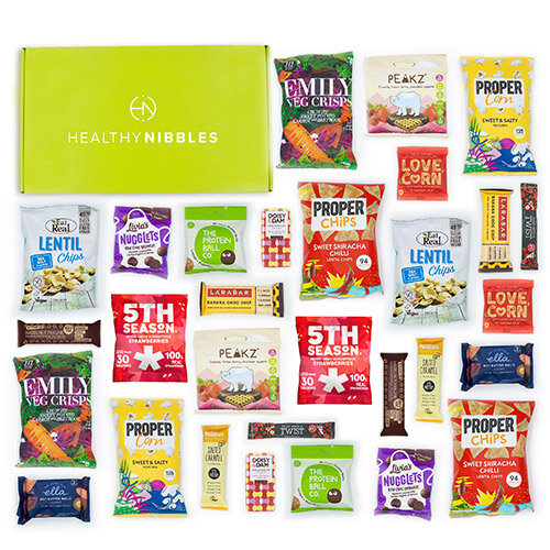 Healthy Nibbles Vegan Snack 60 Piece Office Box Ref Vegan60