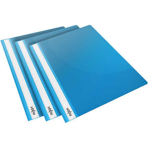 Rexel Choices Report Folder Clear Front Capacity 160 Sheets A4 Blue Ref 2115646 Pack of 25