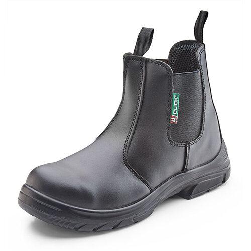 Click Footwear Dealer Safety Boots PU/Leather Steel Toecap Size 6 Black Ref CF16BL06