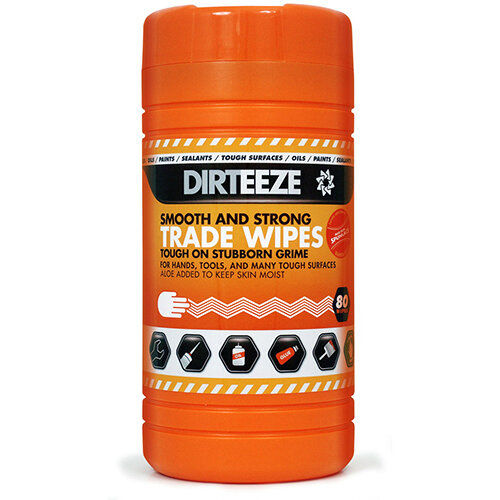 Dirteeze Smooth &Strong Trade Wipes Dispenser Tub 300x200mm Ref DZSS80 [80 Wipes]