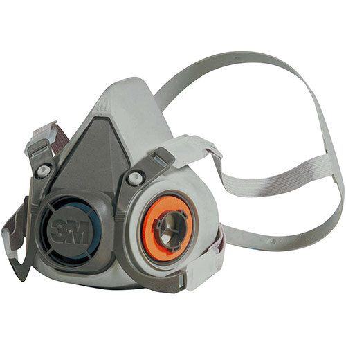 3M 6000 Series Half Face Mask Respirator Medium Grey